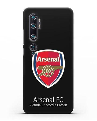 Чехол с логотипом ФК Арсенал Лондон силикон черный для Xiaomi Mi Note 10
