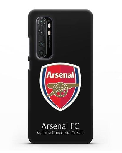 Чехол с логотипом ФК Арсенал Лондон силикон черный для Xiaomi Mi Note 10 lite