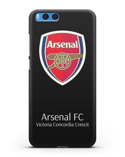 Чехол с логотипом ФК Арсенал Лондон силикон черный для Xiaomi Mi Note 3