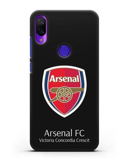 Чехол с логотипом ФК Арсенал Лондон силикон черный для Xiaomi Mi Play