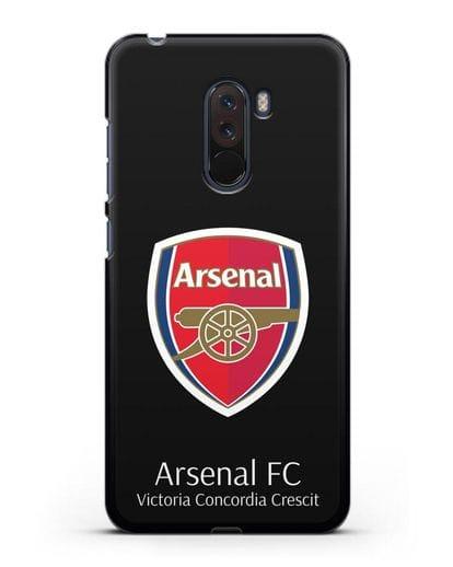 Чехол с логотипом ФК Арсенал Лондон силикон черный для Xiaomi Pocophone F1