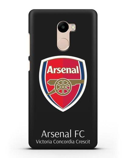 Чехол с логотипом ФК Арсенал Лондон силикон черный для Xiaomi Redmi 4