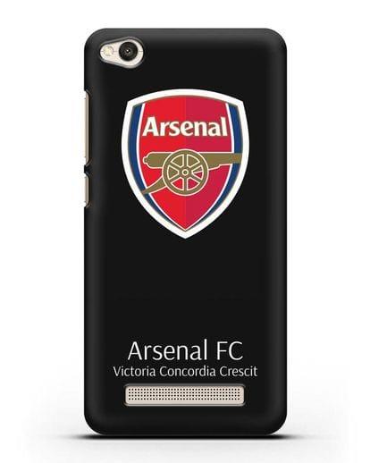 Чехол с логотипом ФК Арсенал Лондон силикон черный для Xiaomi Redmi 4A