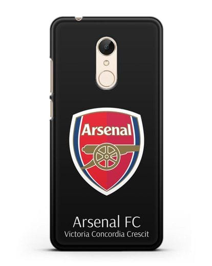 Чехол с логотипом ФК Арсенал Лондон силикон черный для Xiaomi Redmi 5