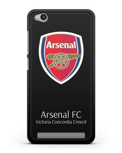 Чехол с логотипом ФК Арсенал Лондон силикон черный для Xiaomi Redmi 5A