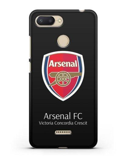 Чехол с логотипом ФК Арсенал Лондон силикон черный для Xiaomi Redmi 6