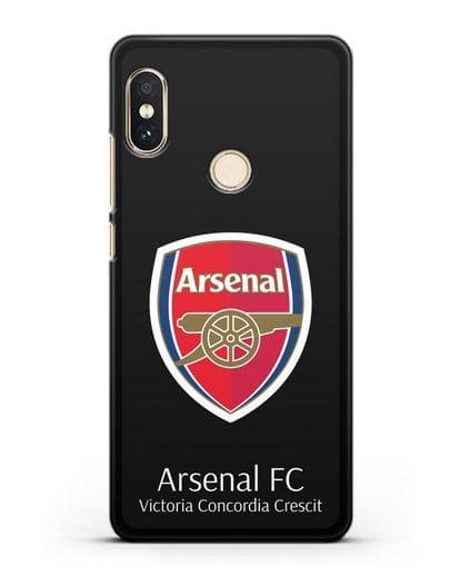 Чехол с логотипом ФК Арсенал Лондон силикон черный для Xiaomi Redmi 6 Pro