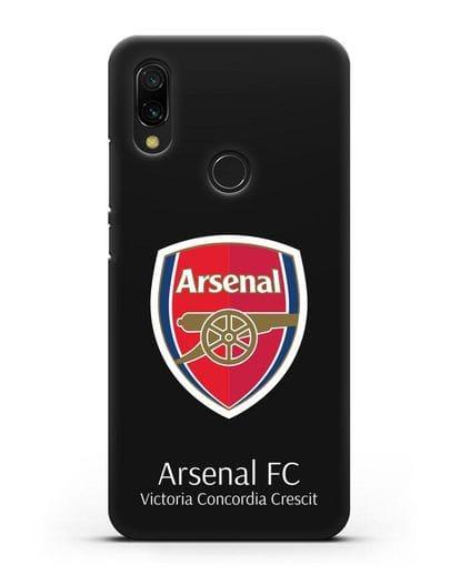 Чехол с логотипом ФК Арсенал Лондон силикон черный для Xiaomi Redmi 7