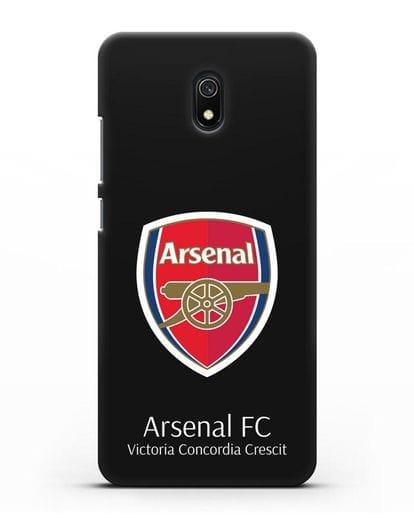 Чехол с логотипом ФК Арсенал Лондон силикон черный для Xiaomi Redmi 8A