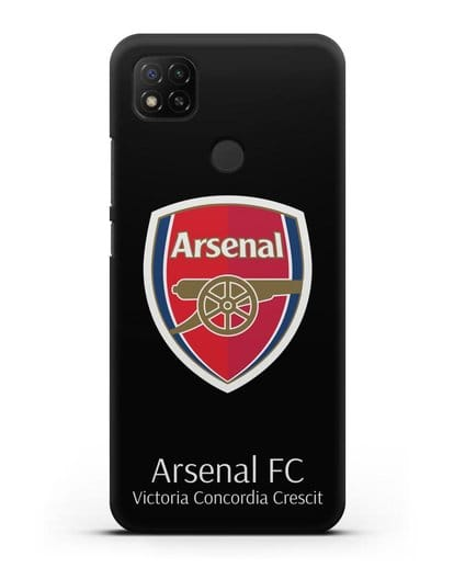 Чехол с логотипом ФК Арсенал Лондон силикон черный для Xiaomi Redmi 9С