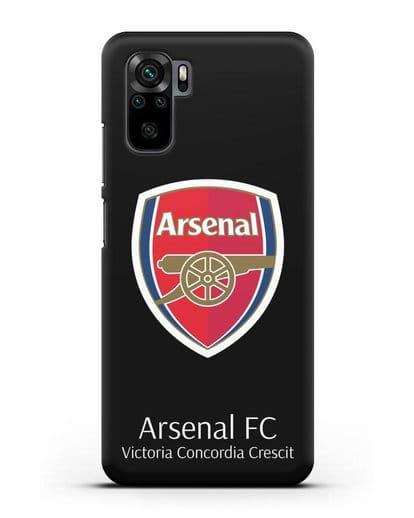 Чехол с логотипом ФК Арсенал Лондон силикон черный для Xiaomi Redmi Note 10