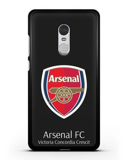 Чехол с логотипом ФК Арсенал Лондон силикон черный для Xiaomi Redmi Note 4