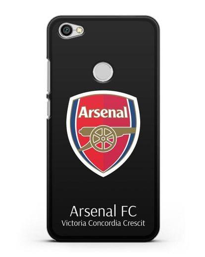 Чехол с логотипом ФК Арсенал Лондон силикон черный для Xiaomi Redmi Note 5A Prime