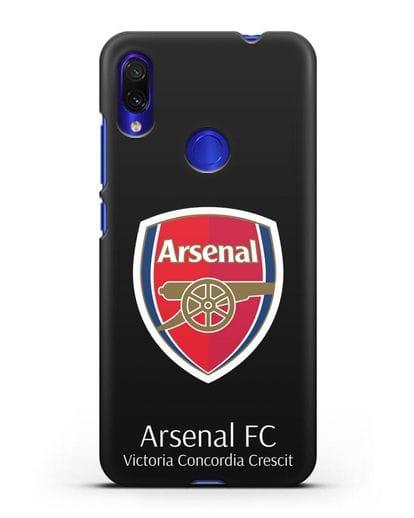Чехол с логотипом ФК Арсенал Лондон силикон черный для Xiaomi Redmi Note 7