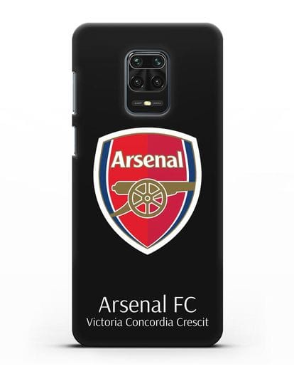 Чехол с логотипом ФК Арсенал Лондон силикон черный для Xiaomi Redmi Note 9 Pro