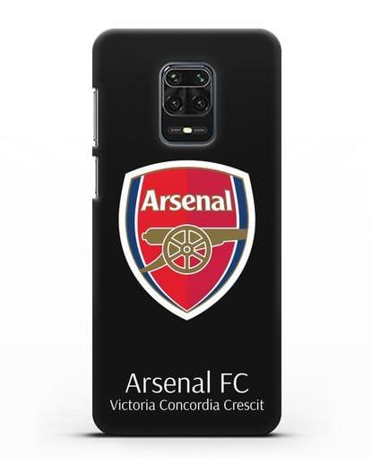 Чехол с логотипом ФК Арсенал Лондон силикон черный для Xiaomi Redmi Note 9S