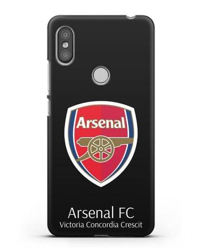 Чехол с логотипом ФК Арсенал Лондон силикон черный для Xiaomi Redmi S2