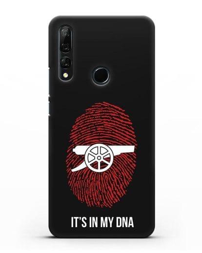 Чехол Arsenal с надписью It's in my DNA силикон черный для Honor 9X