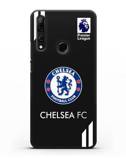 Чехол с логотипом ФК Челси силикон черный для Honor 9X