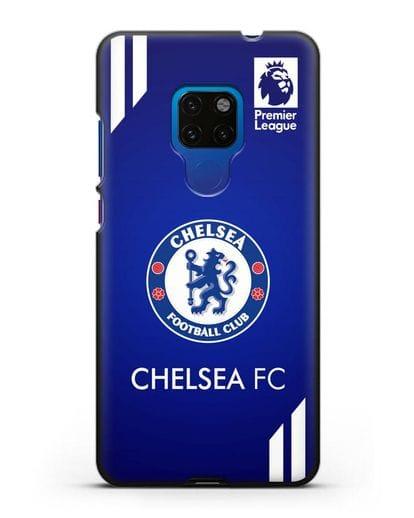 Чехол с логотипом ФК Челси с синим фоном силикон черный для Huawei Mate 20