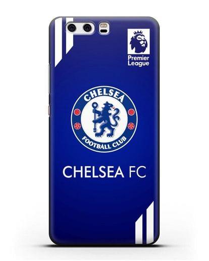 Чехол с логотипом ФК Челси с синим фоном силикон черный для Huawei P10 Plus