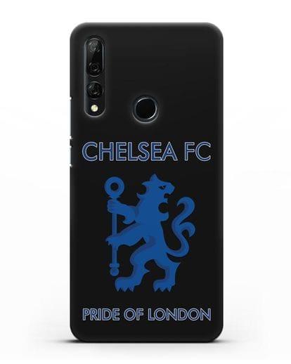 Чехол с надписью Chelsea FC. Pride of London силикон черный для Honor 9X