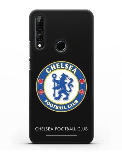 Чехол с логотипом Chelsea FC силикон черный для Honor 9X