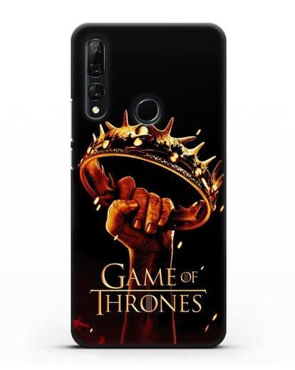 Чехол с картинкой Корона. Игра престолов силикон черный для Honor 9X