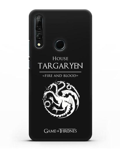 Чехол House Targaryen. Fire and blood силикон черный для Honor 9X