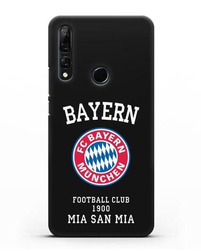 Чехол с надписью Bayern Mia San Mia силикон черный для Honor 9X