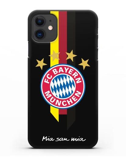 Чехол с логотипом FC Bayern Munchen силикон черный для iPhone 11