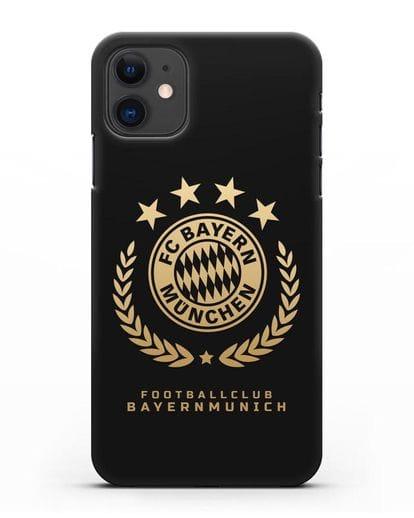 Чехол ФК Бавария Мюнхен с логотипом силикон черный для iPhone 11