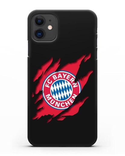 Чехол с эмблемой Бавария Мюнхен силикон черный для iPhone 11