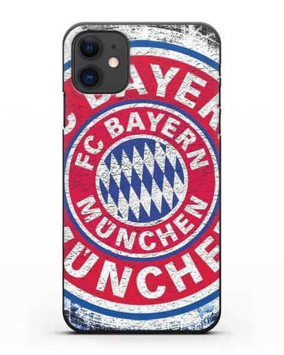 Чехол с символикой Bayern Munchen силикон черный для iPhone 11