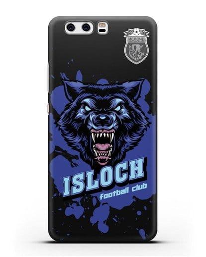 Чехол с изображением волка и надписью Isloch силикон черный для Huawei P10 Plus