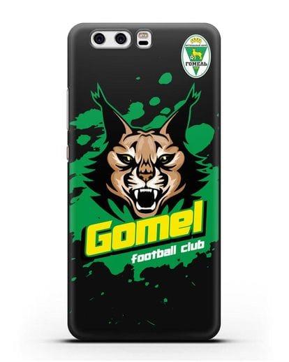 Чехол Рысь с надписью Gomel football club силикон черный для Huawei P10 Plus