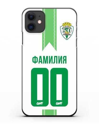 Чехол с символикой ФК Гомель зелёный фон силикон черный для iPhone 11