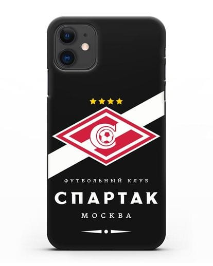 Чехол с логотипом ФК Спартак Москва силикон черный для iPhone 11