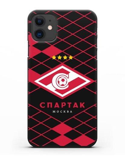 Чехол с эмблемой ФК Спартак Москва силикон черный для iPhone 11