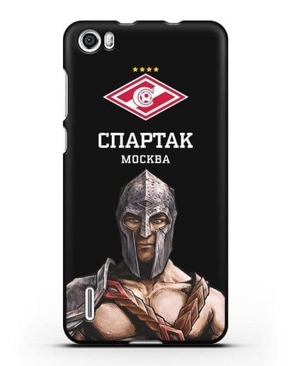 Чехол ФК Спартак Москва Гладиатор силикон черный для Honor 6