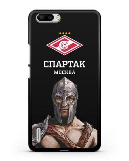 Чехол ФК Спартак Москва Гладиатор силикон черный для Honor 6 Plus