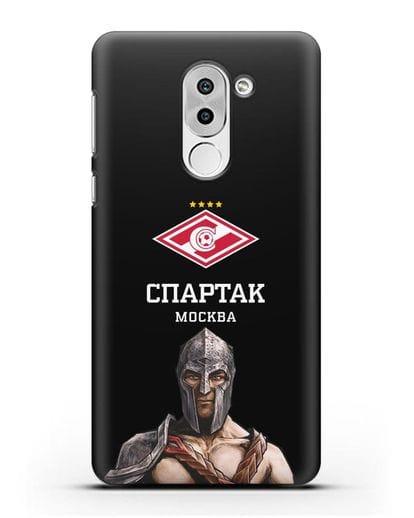 Чехол ФК Спартак Москва Гладиатор силикон черный для Honor 6X