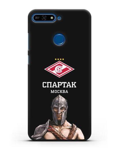 Чехол ФК Спартак Москва Гладиатор силикон черный для Honor 7А Pro