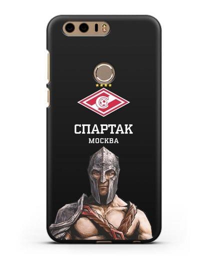 Чехол ФК Спартак Москва Гладиатор силикон черный для Honor 8