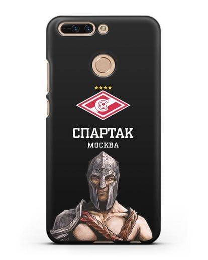 Чехол ФК Спартак Москва Гладиатор силикон черный для Honor 8 Pro