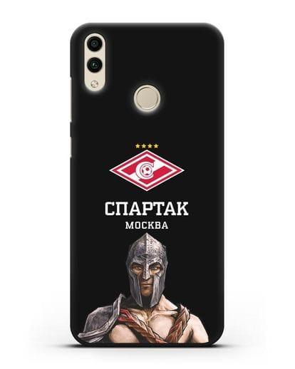 Чехол ФК Спартак Москва Гладиатор силикон черный для Honor 8C