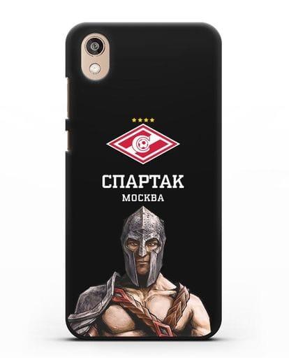 Чехол ФК Спартак Москва Гладиатор силикон черный для Honor 8S