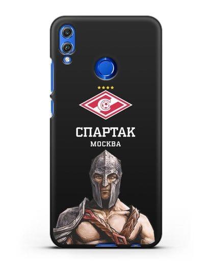 Чехол ФК Спартак Москва Гладиатор силикон черный для Honor 8X