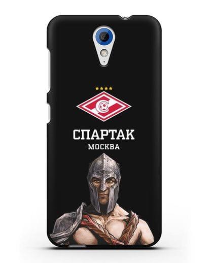 Чехол ФК Спартак Москва Гладиатор силикон черный для HTC Desire 620