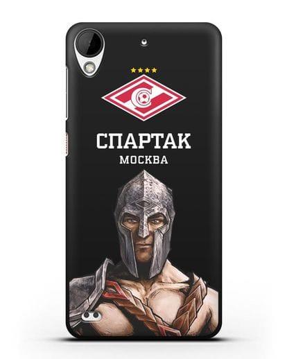 Чехол ФК Спартак Москва Гладиатор силикон черный для HTC Desire 630
